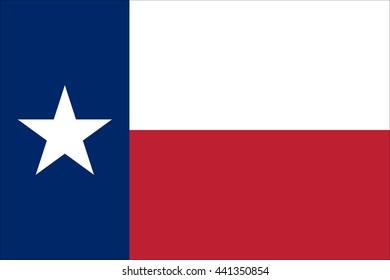 National Texas flag. Vector illustration