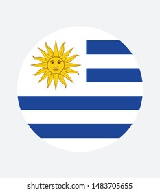 National Uruguay flag, official colors and proportion correctly. National Uruguay flag. Vector illustration. EPS10. Uruguay flag vector icon, simple, flat design for web or mobile app.