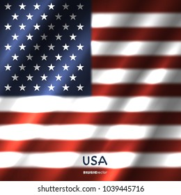 National USA flag background. Great 8 country United States of America standard banner backdrop