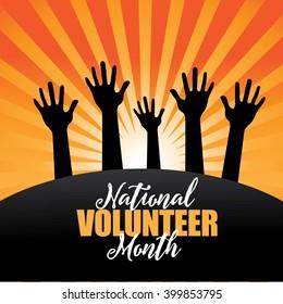 National volunteer month design. EPS 10 vector.