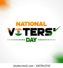 National Voters' Day India square vector background design for greeting, social media posting, meme, sticker, profile photo design. January 25 India National Day