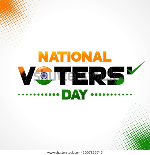 National Voters Day India Square Vector Stock Vector