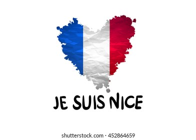 The national waving flag of France. Blue, white red background. vector