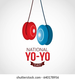 National Yo-yo Day Vector Design