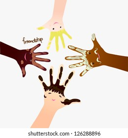 Nationality and friendship hands