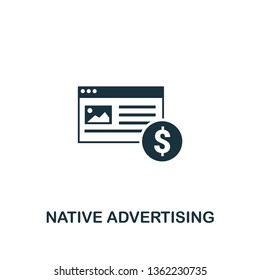 Native Advertising icon. Creative element design from content icons collection. Pixel perfect Native Advertising icon for web design, apps, software, print usage.