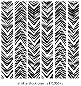 Native American black and white arrow pattern