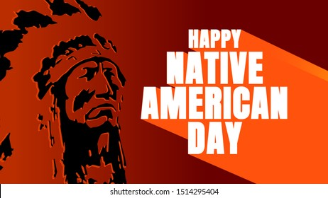 native american day celebrate cover thumbnails vector.