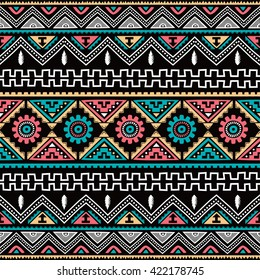 native american ethnic seamless pattern theme vector art illustration