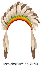 native american headdress vector