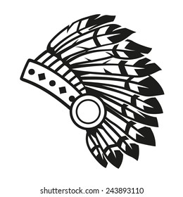 indian headdress stock illustrations images vectors shutterstock rh shutterstock com indian chief headdress clipart Colored Pictures of Indian Headdress