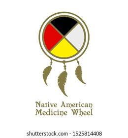 Native American Medicine Wheel Vector