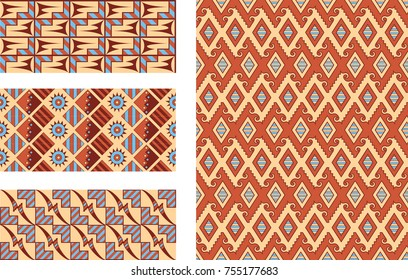 Native American Seamless Vector Patterns