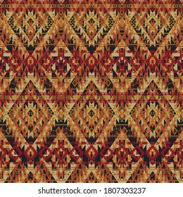 Native American style fabric wallpaper abstract vector seamless pattern