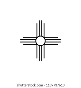 Native American Sun sign icon. Element of religion sign icon for mobile concept and web apps. Detailed Native American Sun icon can be used for web and mobile on white background