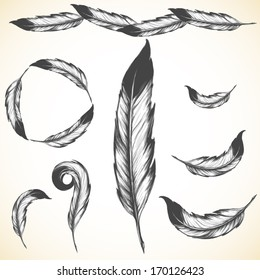 Royalty Free Native American Feather Images Stock Photos Vectors
