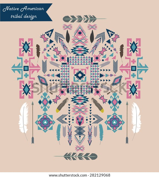 photograph about Native American Designs Printable named Indigenous American Tribal Style and design Vector Ornament Inventory Vector