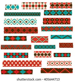 Native American Washi Tape Clipart