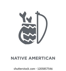 Native Amertican Arrows and Quiver icon. Native Amertican Arrows and Quiver design concept from American Indigenous Signals collection. Simple element vector illustration on white background.