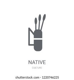 Native Amertican Arrows and Quiver icon. Trendy Native Amertican Arrows and Quiver logo concept on white background from Culture collection. Suitable for use on web apps, mobile apps and print media.