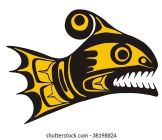 Native fish Vector