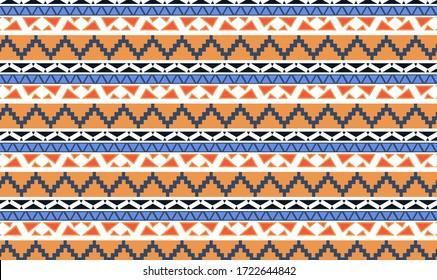 Native pattern background is grid pattern interspersed