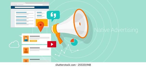 Native social media content advertising marketing