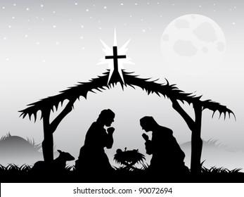 nativity scene,vector