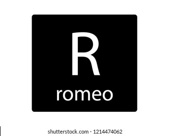 NATO Army Phonetic Alphabet Letter Romeo