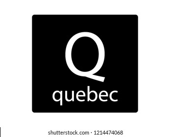NATO Army Phonetic Alphabet Letter Quebec