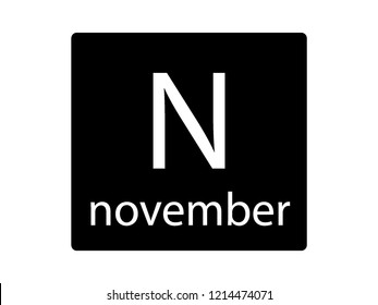 NATO Army Phonetic Alphabet Letter November