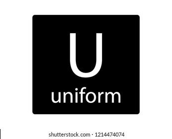 NATO Army Phonetic Alphabet Letter Uniform