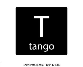 NATO Army Phonetic Alphabet Letter Tango