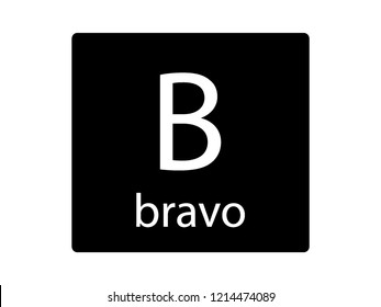 NATO Army Phonetic Alphabet Letter Bravo