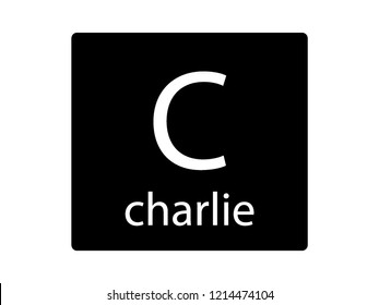 NATO Army Phonetic Alphabet Letter Charlie