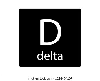NATO Army Phonetic Alphabet Letter Delta