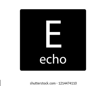 NATO Army Phonetic Alphabet Letter Echo