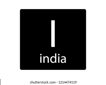 NATO Army Phonetic Alphabet Letter India