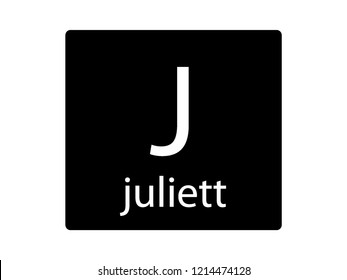 NATO Army Phonetic Alphabet Letter Juliett