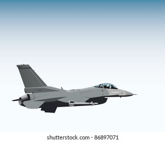 NATO fighter jet vector image
