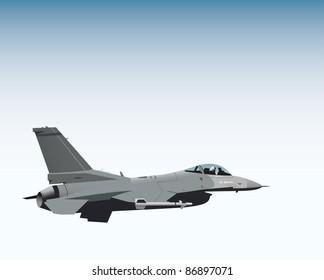 NATO fighter jet vector image