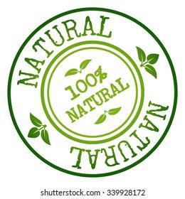 Natural Badge & Stamp. Vector illustration