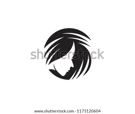 natural beauty salon hair logo vector stock vector royalty free