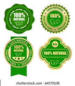natural bio design elements set