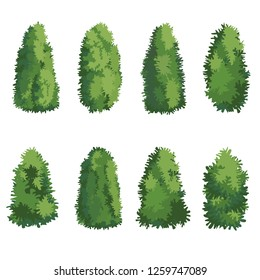 Natural bush vector - Vector
