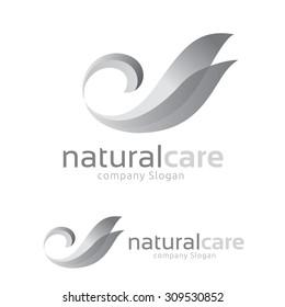 Natural Care Swan Logo Template