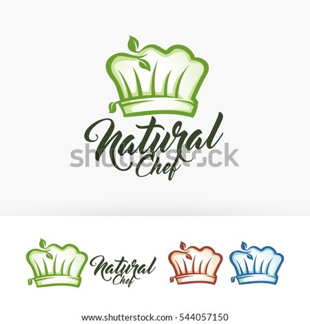 natural chef vector logo template nature のベクター画像素材