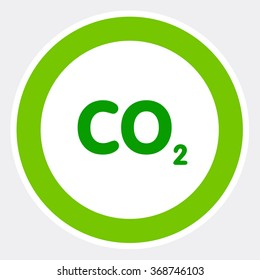 Natural CO2 background,carbon footprint