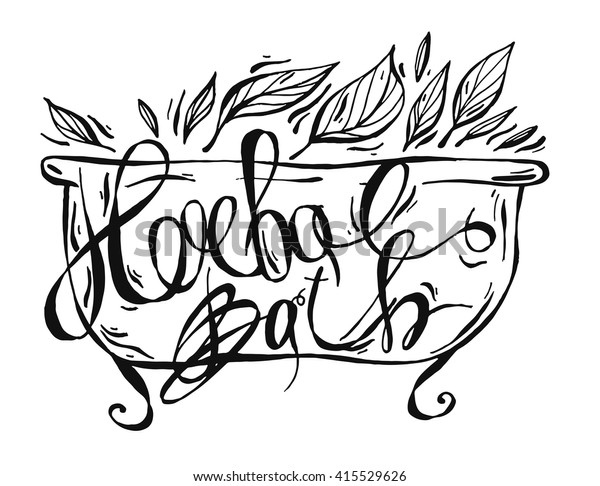 Natural Cosmetics Handwritten Calligraphic Label Luxury