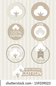 Natural cotton symbols